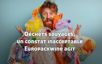 Déchets sauvages, un constat inacceptable, Europackwine agit !